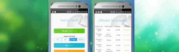 Vezi direct pe smartphone-ul tau rezultatele pentru promovarea online pe care o faci cu Profitshare App